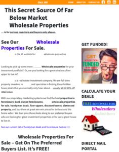 A wholesaler's website that looks less than trustworthy