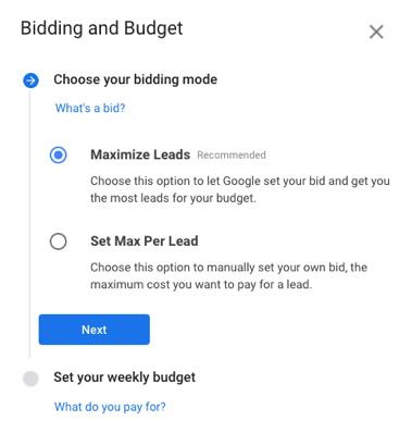 bidding and budgets