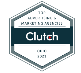 clutch badge for top advertising & marketing agencies in ohio 2021