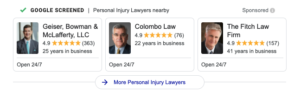 columbus personal injury law local services ads